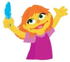 Sesame Street Autistic Character