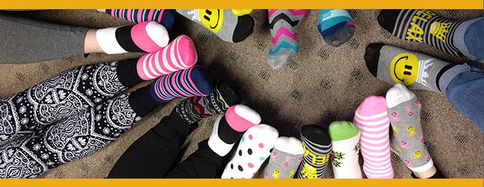 Children in socks