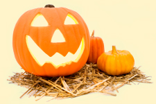 Witches, pumpkin heads, black cats, scratchy costumes, creepy masks, and spooky sounds!